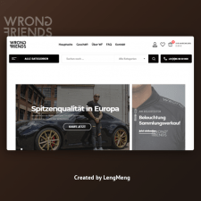Создание интернет магазина для WrongFriends