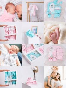 Визуал для магазина одежды для новорожденных