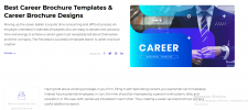 Career Brochure Templates. Career Brochure De