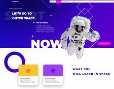 Макет для космо сайта