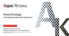 Сертификация Яндес Метрика