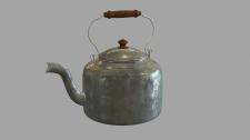 Старый металлический чайник