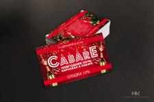 Визитка для клуба Cabare
