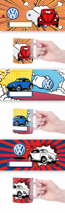 Серія принтів для кружок VW beetle