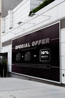 Luxury cafeteria   Рекламный баннер