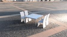 3д модель стол и стулья