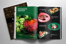 Разработка меню для ресторана Vanity, Одесса