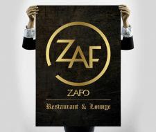 Логотип, разработанный специально для ресторана Za