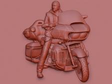 3Д моделирование мотоциклиста