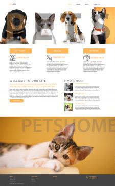 дизаайн сайта отеля для животных