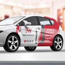 """Дизайн наклейки на авто """"К&W"""""""