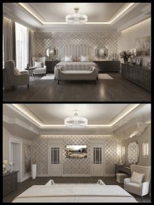 дизайн спальні в класиці  в2