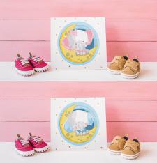 Персонажи для детской обуви на коробку
