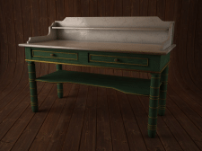 3Д стол с белой мраморной столешницей