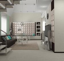 Интерьер квартире в котедже