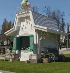 ice cream Shop (Design. 3d rendering) viz 1