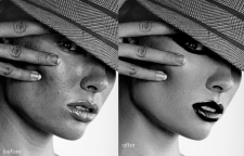 Портретная ретушь, ретушь кожи, high end