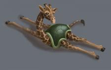 Концепт гибрида жирафа и черепахи