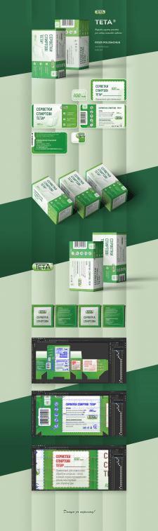 Дизайн упаковки для спиртовых салфеток