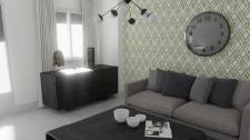 3Д визуализация гостинной