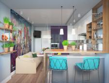 Двухкомнатная квартира 80 м2. Кухня