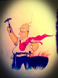 Гомер Симпсон (карандаш)
