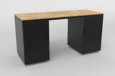 Bureau chene et metal gray wood