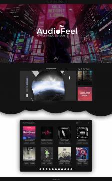 Редизайнинг Сайта AudioFeel