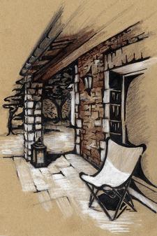 Терраса дома в Провансе