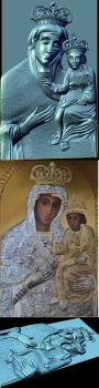 3D барельєф унівської чудотворної ікони богородиці