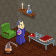 Алхимик в своём кабинете