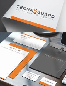 Логотип и фирменный стиль  для компании Techoguard