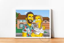 Simpsons style portrait