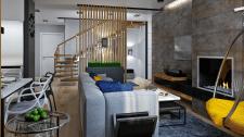 2-х этажная квартира с стиле Контемпорари