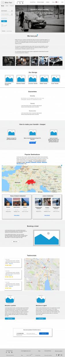 Интерактивный прототип сайта аэропорт-такси