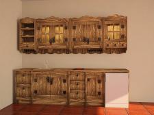 моделирование кухни с деревенском стиле