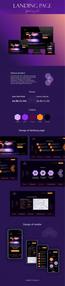 Design web-site for services centre