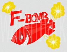 F-BomB наклейка на бак мотоцикла 1variant