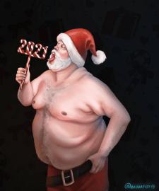 Иллюстрация для размещения на новогодней открытке