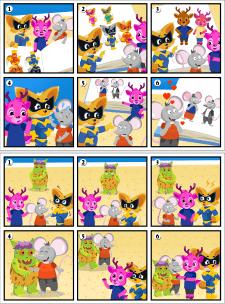 Комиксы для игры по изучению англ. языка