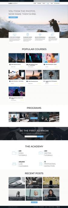 Сайт для онлайн курсів