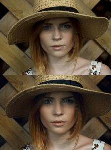 Обработка  женского портрета