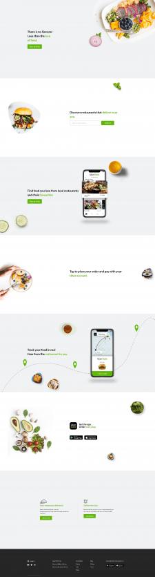 """Сайт-визитка """"Uber Eats"""" для рекламы приложения"""