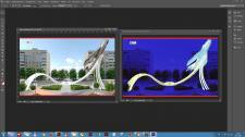 Визуализация архитектурной подсветки