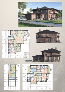 проект частного жилого дома П-03