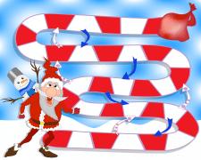 Новогодняя настольная игра для детей.