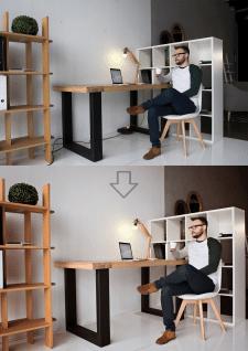 Цветокоррекция фото, удаление элементов