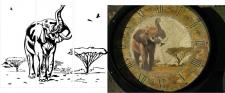 Шаблон под пескоструй - Слон
