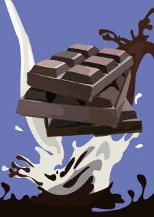 Обложка упаковки шоколада