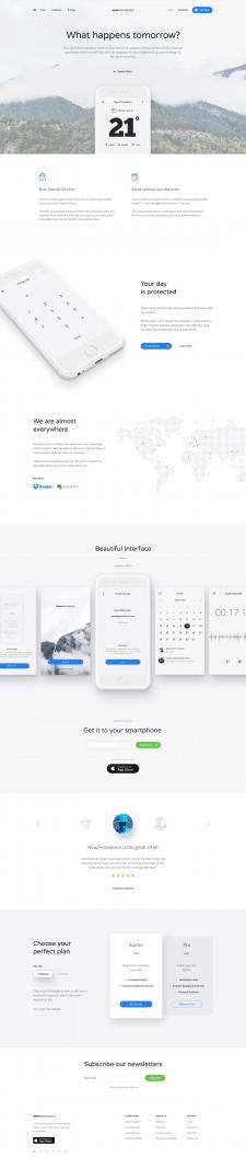 Веб дизайн лендинга мобильного приложения